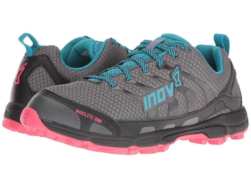 inov-8 Roclite 280 (Dark Green/Teal/Pink) Women's Running Shoes