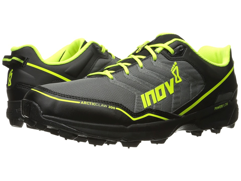 inov-8 - Arctic Claw 300 (Grey/Black/Neon Yellow) Running Shoes