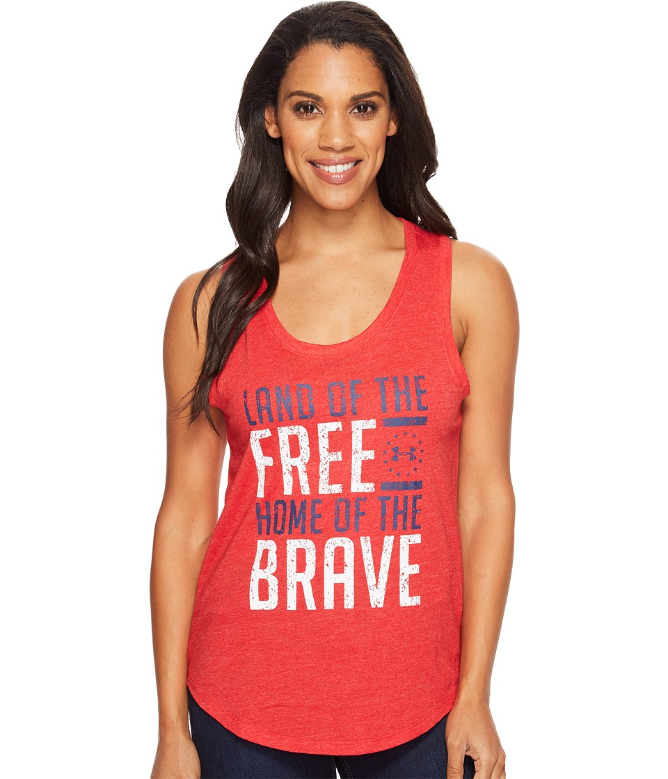 Under Armour Freedom Brave Tank Top (Red/White) Women