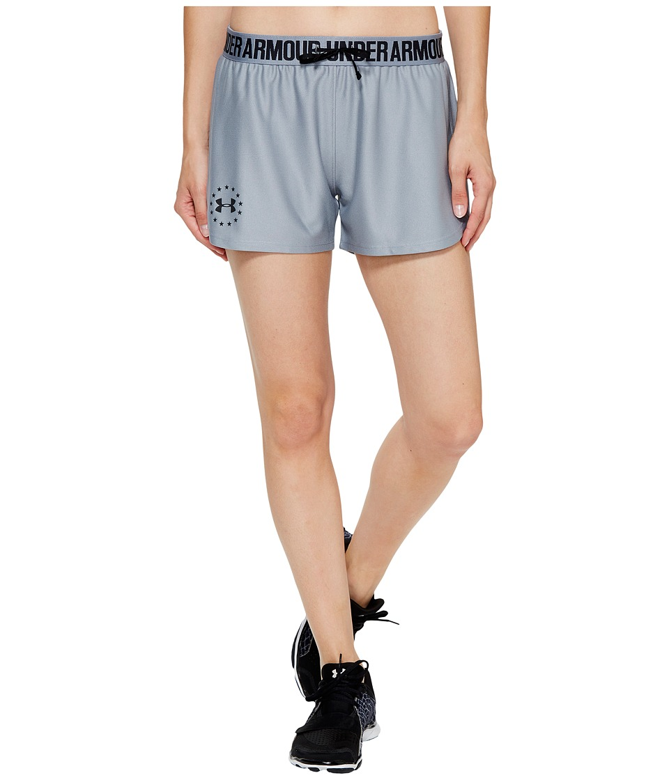 Under Armour Freedom Training Shorts (True Gray Heather/Steel/Black) Women