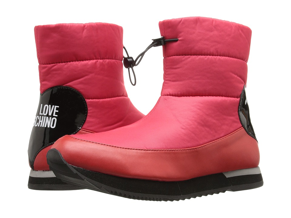 LOVE Moschino Ankle Snow Boot (Red) Women