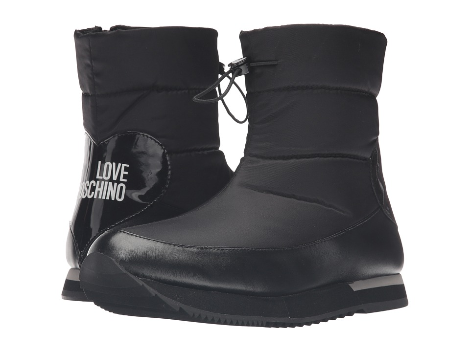 LOVE Moschino Ankle Snow Boot (Black) Women
