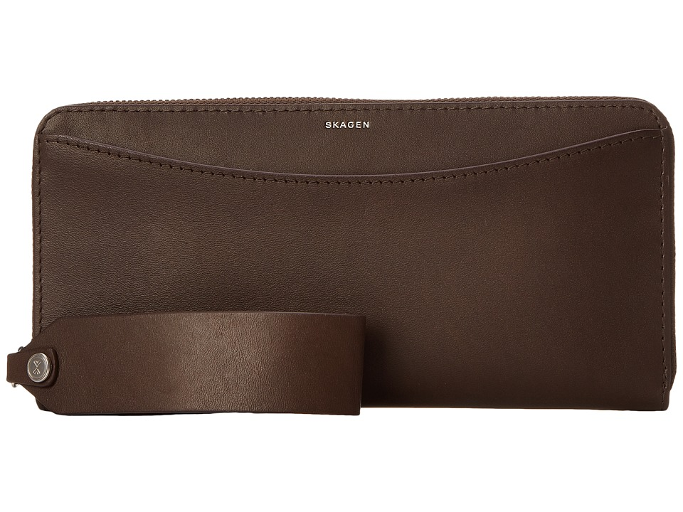 Skagen - Hanne Clutch (Dark Brown) Clutch Handbags
