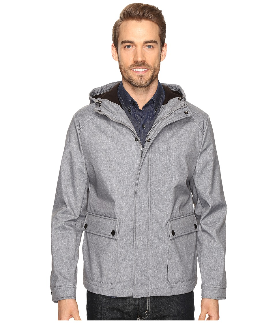 Kenneth Cole New York - Softshell City Jacket (Grey) Men's Coat