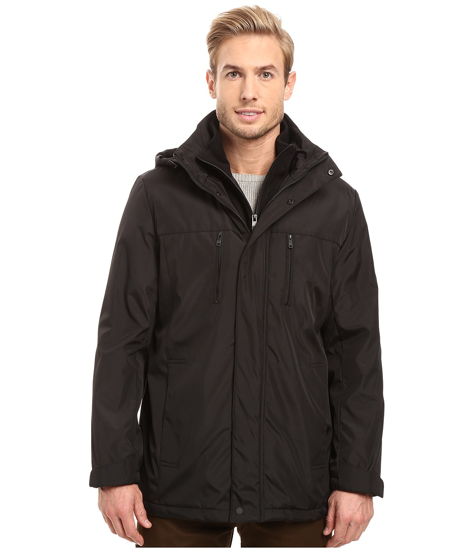 Kenneth Cole New York - Softshell Jacket with Bib Insert (Black) Men's Coat