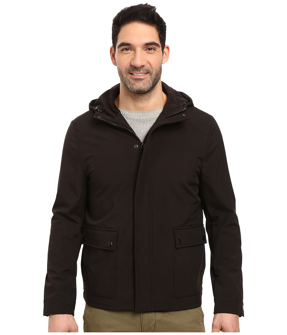 Kenneth Cole New York - Storm Hooded Jacket (Black) Men's Coat