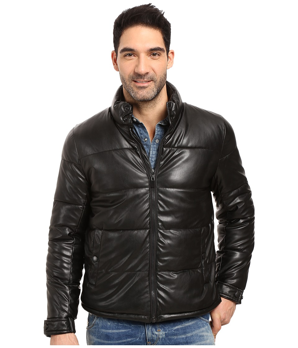 Kenneth Cole New York Quilted Puffer Jacket (Black) Men