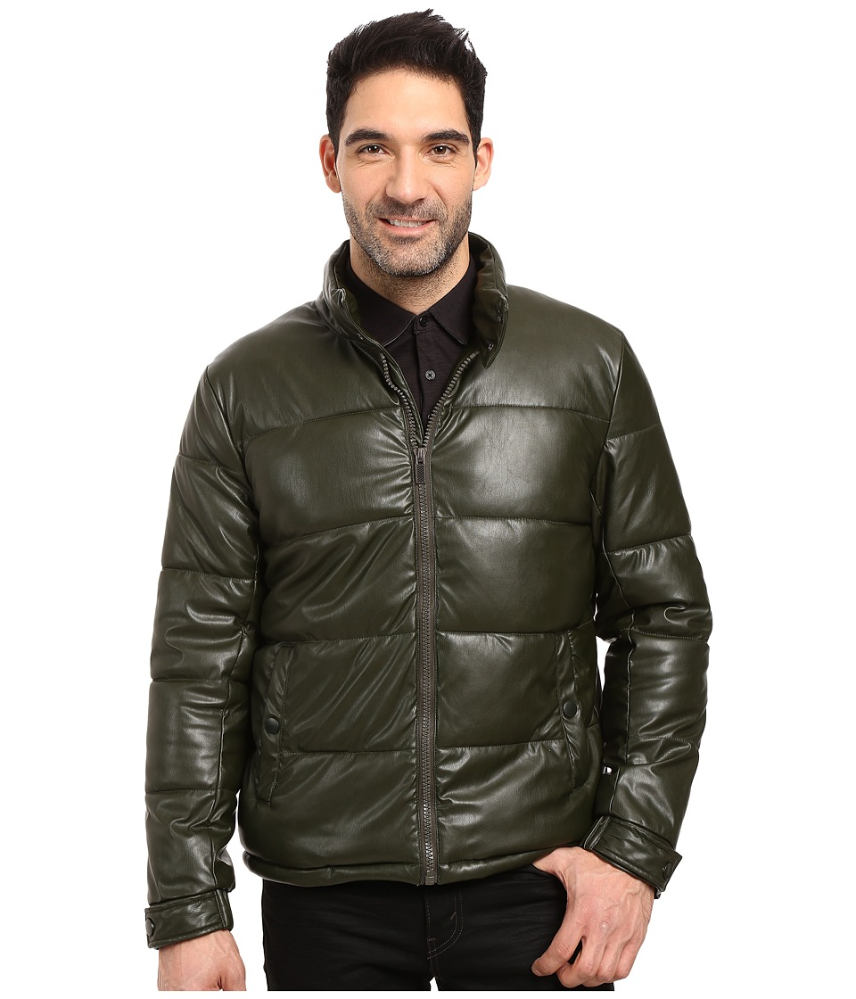 Kenneth Cole New York Quilted Puffer Jacket (Olive) Men