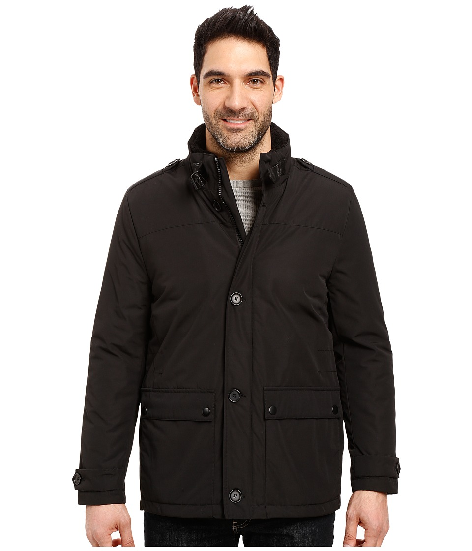 Kenneth Cole New York - Oxford Micropoly Jacket (Black) Men's Coat