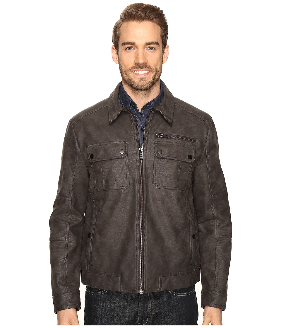 Kenneth Cole New York - Suede Jacket (Grey) Men's Coat