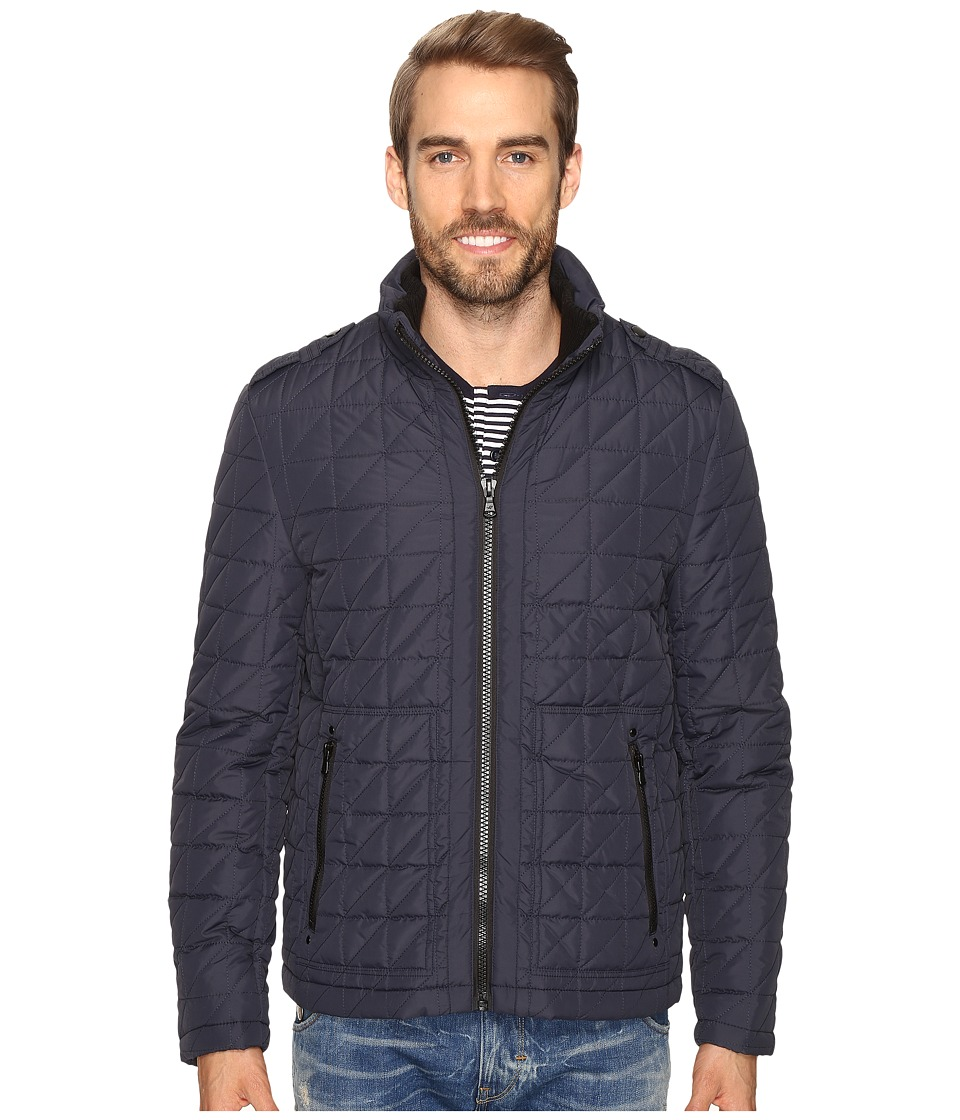 Kenneth Cole New York - Quilted Poly Jacket (Navy) Men's Coat