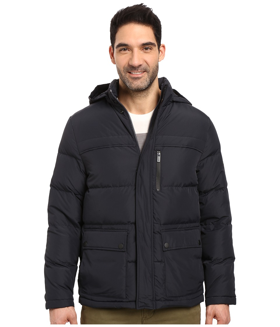 Kenneth Cole New York - Solid Micro Poly Jacket (Midnight) Men's Coat