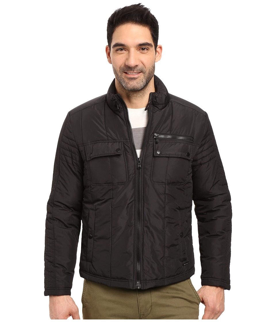 Kenneth Cole New York - Polyfill Urban Jacket (Black) Men's Coat