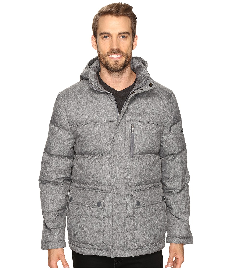Kenneth Cole New York - Crosshatch Micropoly Jacket (Grey) Men's Coat