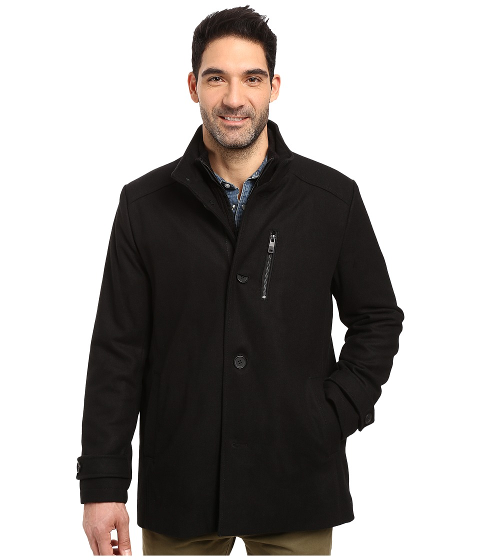 Kenneth Cole New York - Easy Layer Wool Jacket (Black) Men's Coat