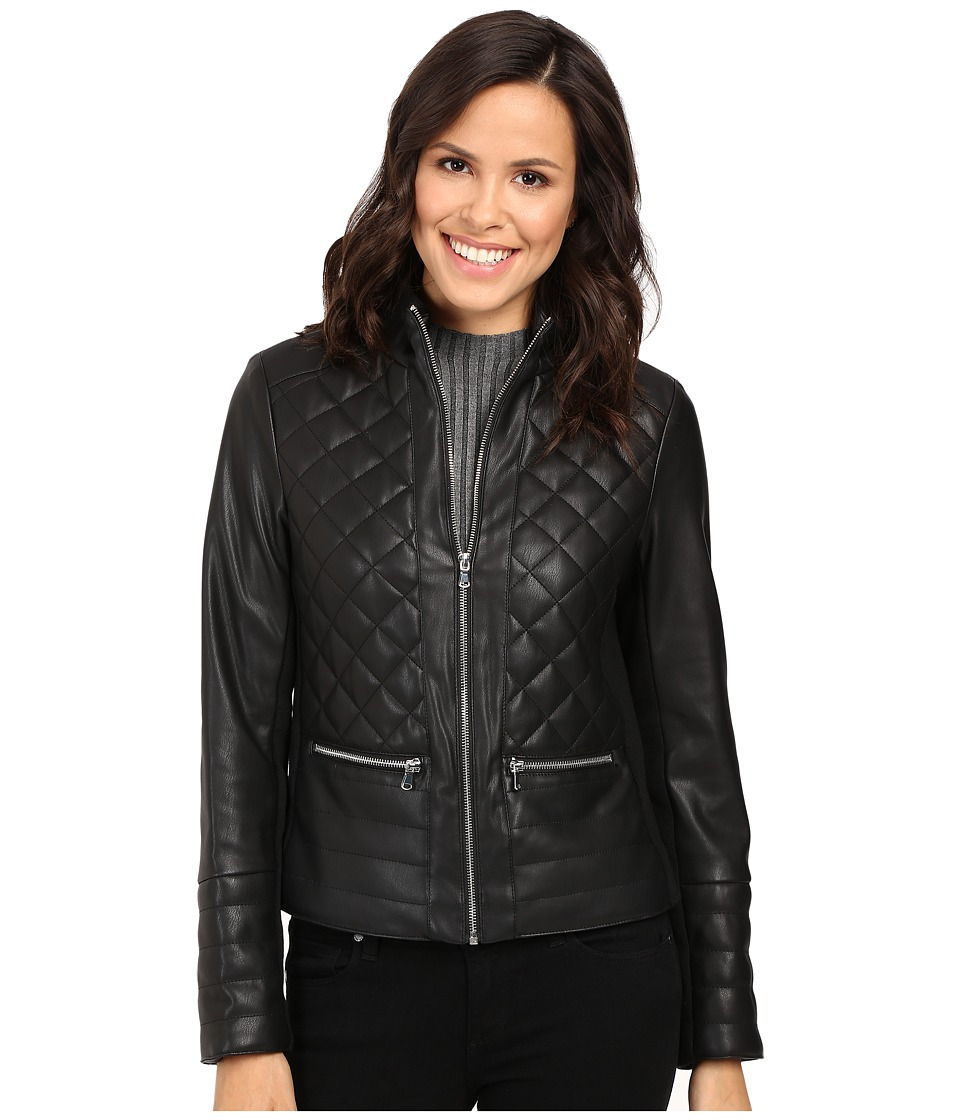 Kenneth Cole New York - Quilted Rebel Jacket (Black) Women's Coat