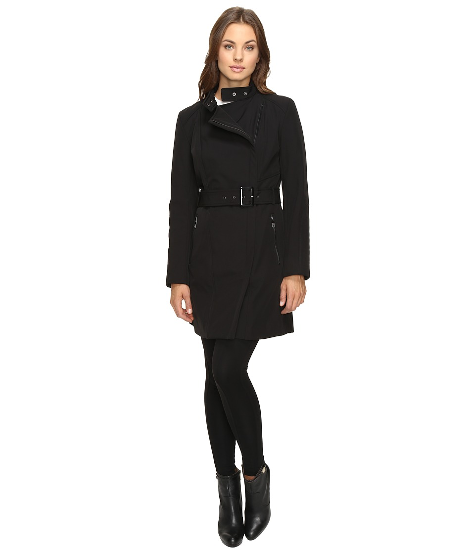 Kenneth Cole New York - Softshell Belted Trench (Black) Women's Coat