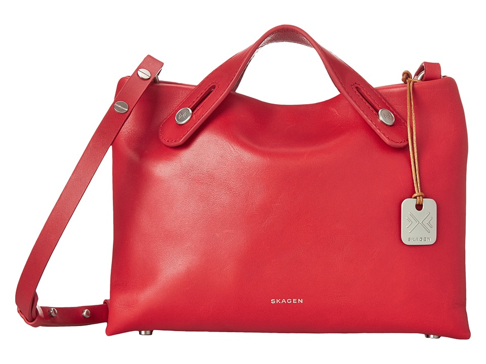 Skagen - Mini Mikkeline Satchel (Red) Satchel Handbags