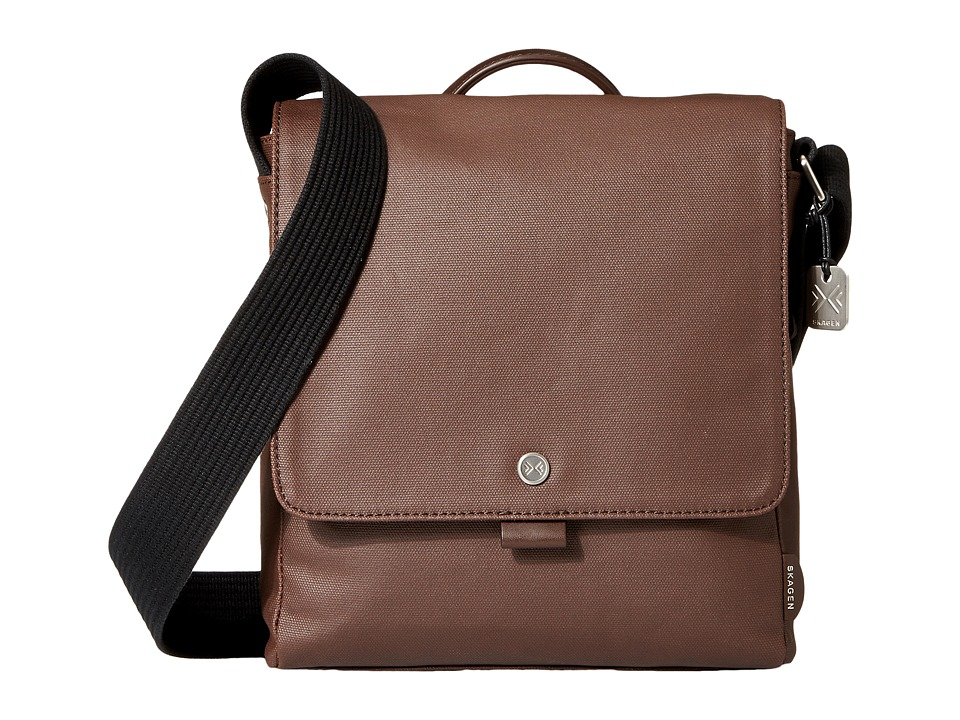 Skagen - Nordborg Messenger (Dark Brown) Messenger Bags