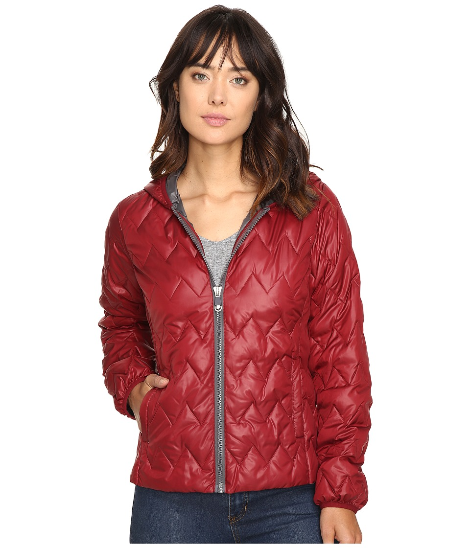 Kenneth Cole New York - Quilted Chevron Jacket (Crimson) Women's Coat