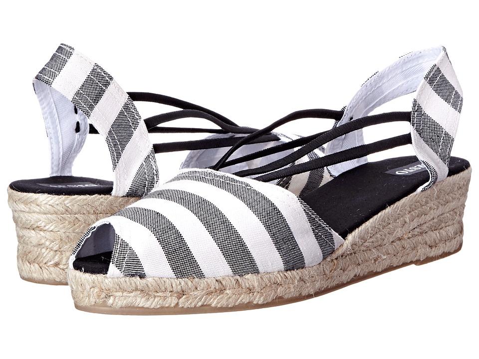 Sesto Meucci - 858 (Black Ocean Fabric) Women's Wedge Shoes