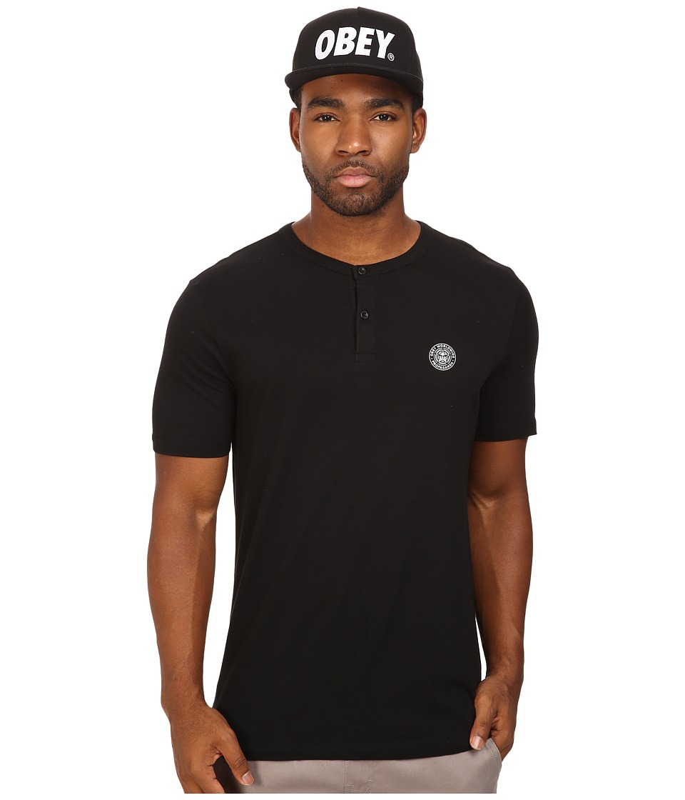 Obey - Mission Henley (Black) Men's Clothing