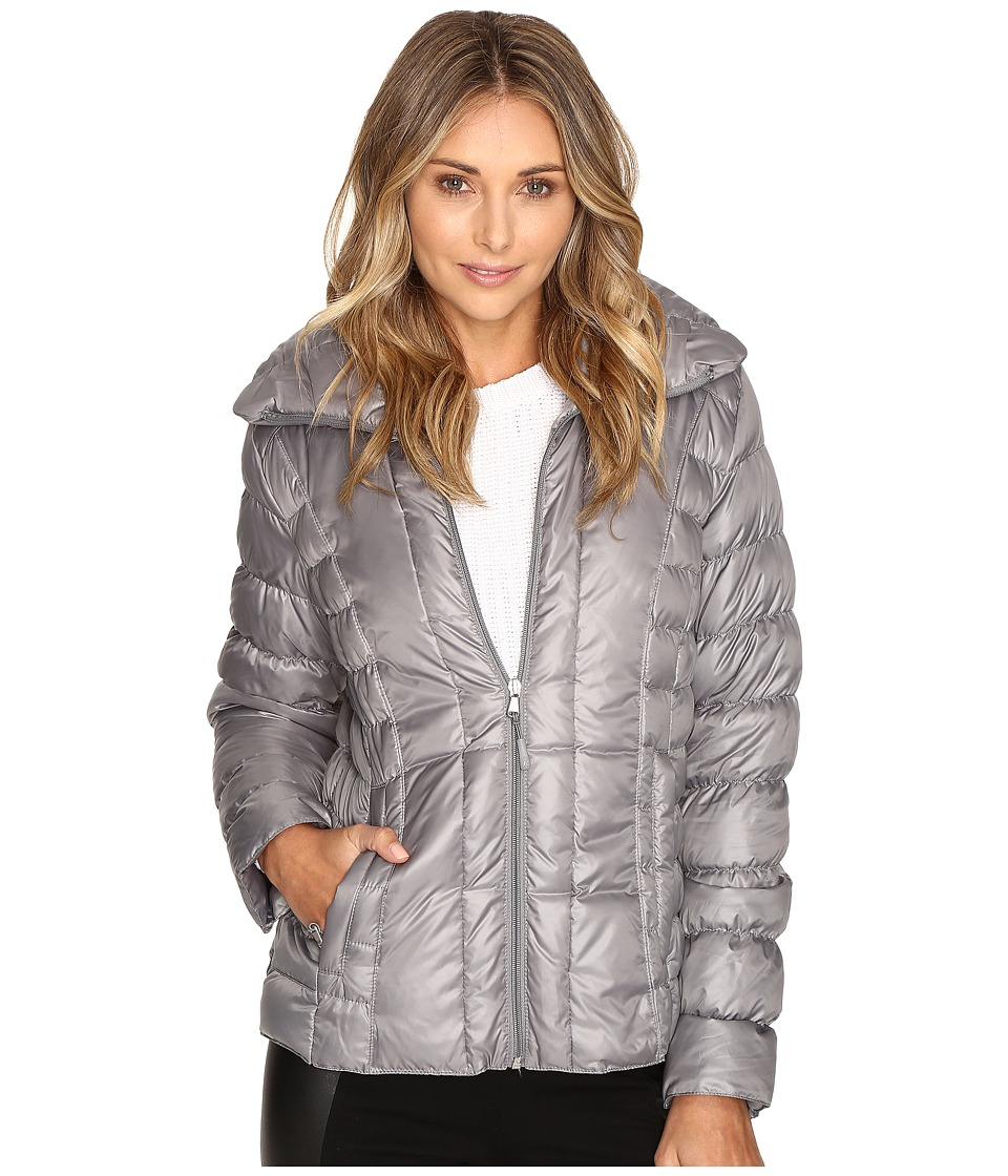 Kenneth Cole New York - Quilted Puffer Jacket (Nickel) Women's Coat