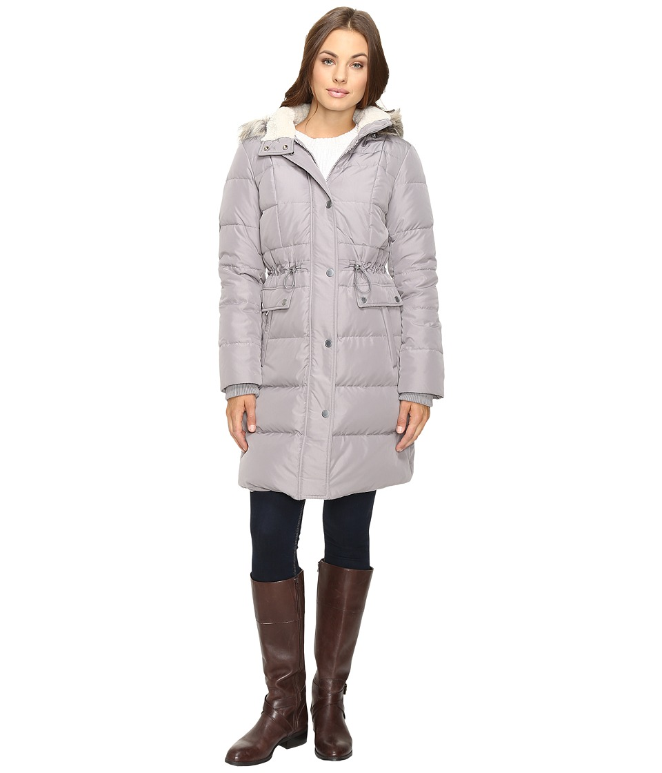 Kenneth Cole New York - Quilted Coat with Fur Hood (Thistle) Women's Coat