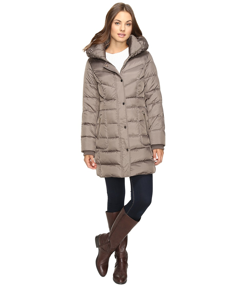 Kenneth Cole New York - Quilted Minimalist Coat (Thistle) Women's Coat
