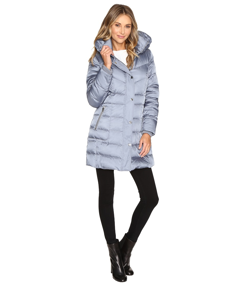Kenneth Cole New York - Quilted Minimalist Coat (Steel) Women's Coat