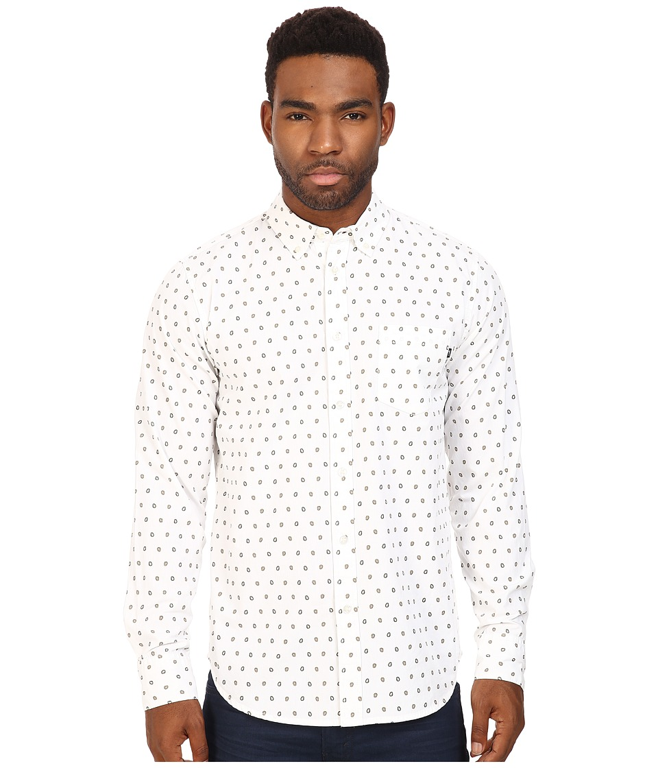 Obey - Syd Woven (White Multi) Men's Long Sleeve Button Up