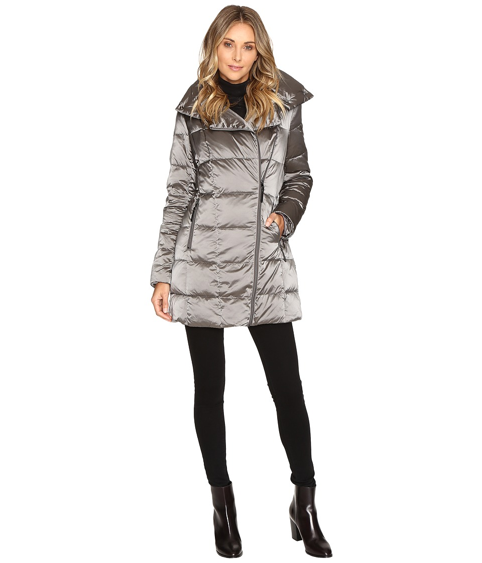 Kenneth Cole New York - Block Quilted Coat (Cinder) Women's Coat