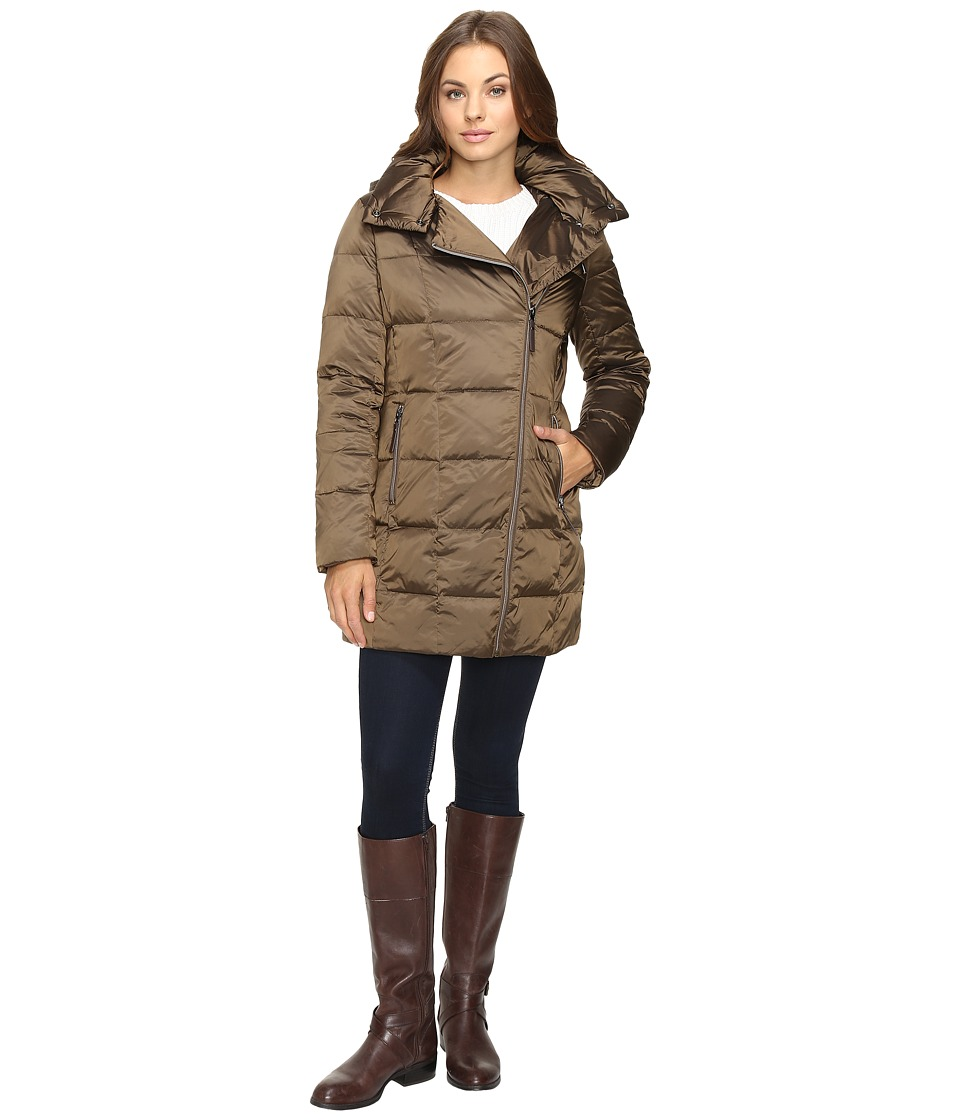 Kenneth Cole New York - Block Quilted Coat (Bronze) Women's Coat