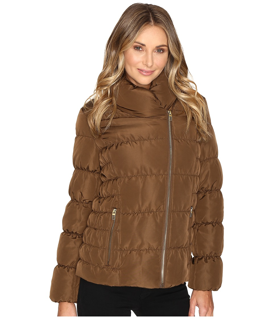 Kenneth Cole New York - Quilted Coat with Asymmetrical Zip (Oregano) Women's Coat