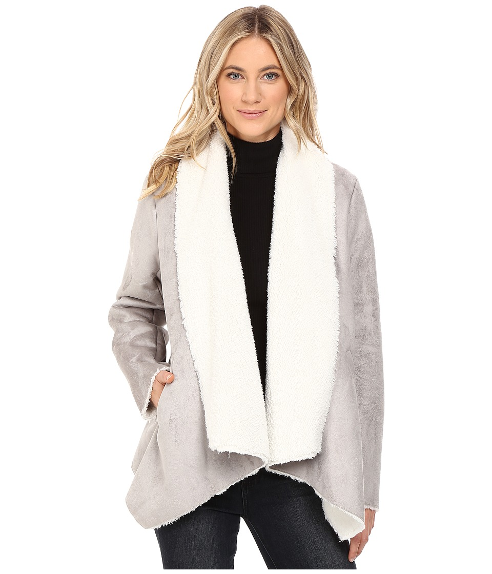 Kenneth Cole New York - Fur Suede Jacket (Stone) Women's Coat
