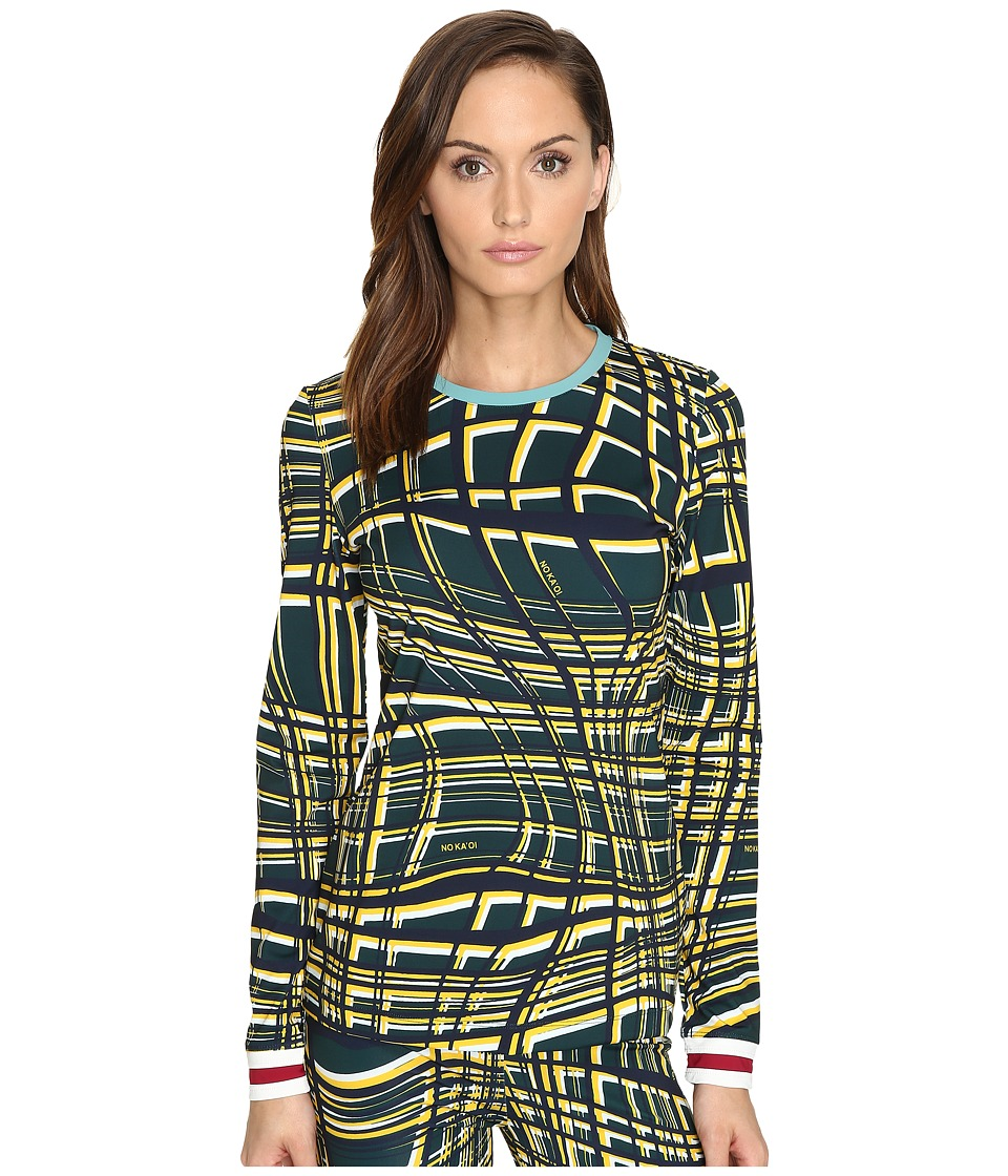NO KA'OI - Niu Long Sleeve (Saffron Print) Women's Clothing