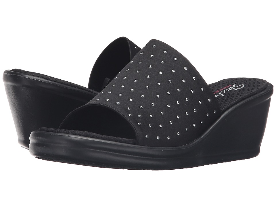 SKECHERS - Rumblers - Rock Star (Black) Women's Slippers