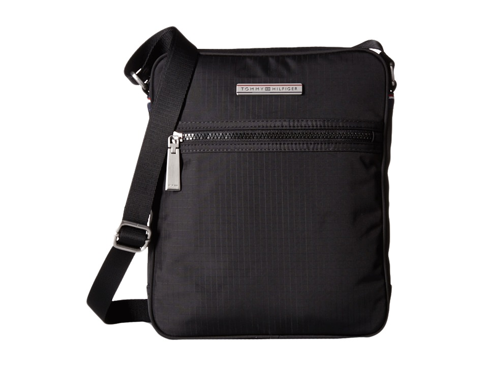 Tommy Hilfiger - Jasper - Ripstop Nylon Slim Reporter (Black) Bags