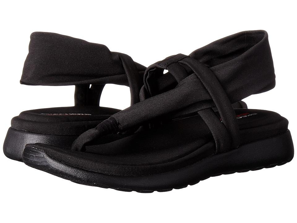SKECHERS - Breeze Low - Studio Sport (Black/Black) Women's Sandals