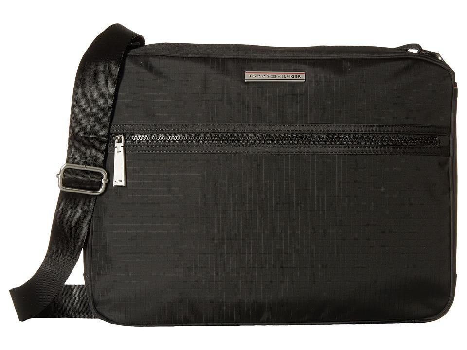 Tommy Hilfiger - Jasper - Ripstop Nylon Messenger (Black) Messenger Bags