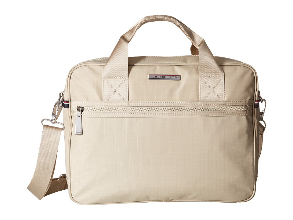 Tommy Hilfiger - Jasper - Ripstop Nylon Computer Bag (Khaki) Computer Bags
