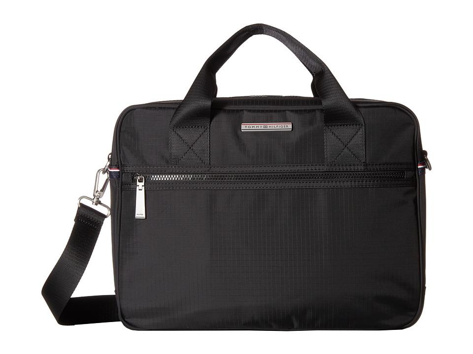 Tommy Hilfiger - Jasper - Ripstop Nylon Computer Bag (Black) Computer Bags