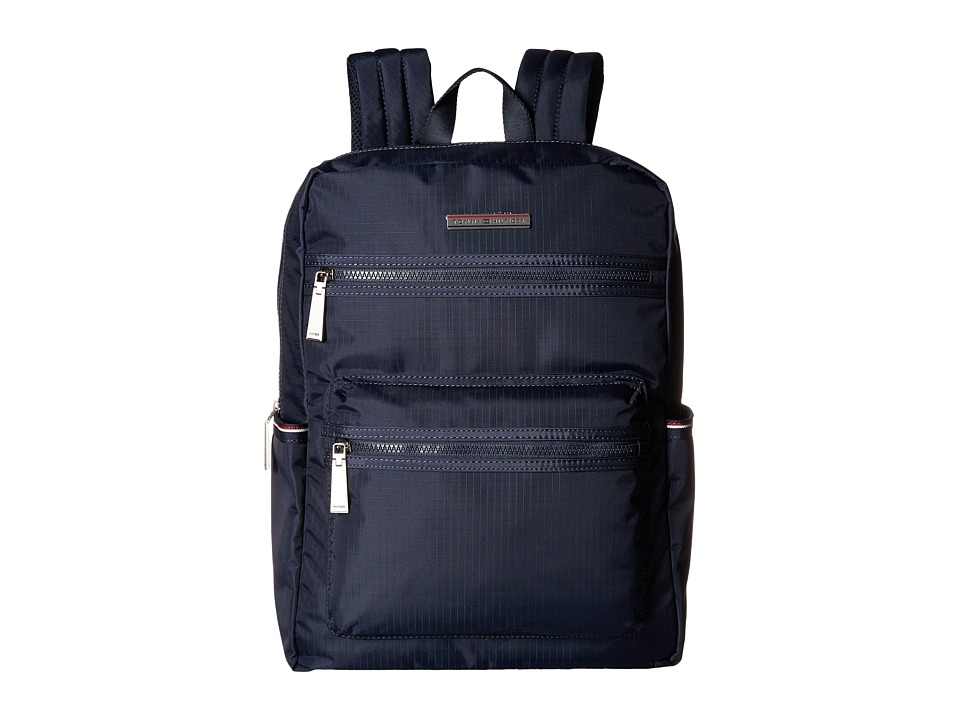 Tommy Hilfiger Jasper Ripstop Nylon Backpack (Navy) Backpack Bags