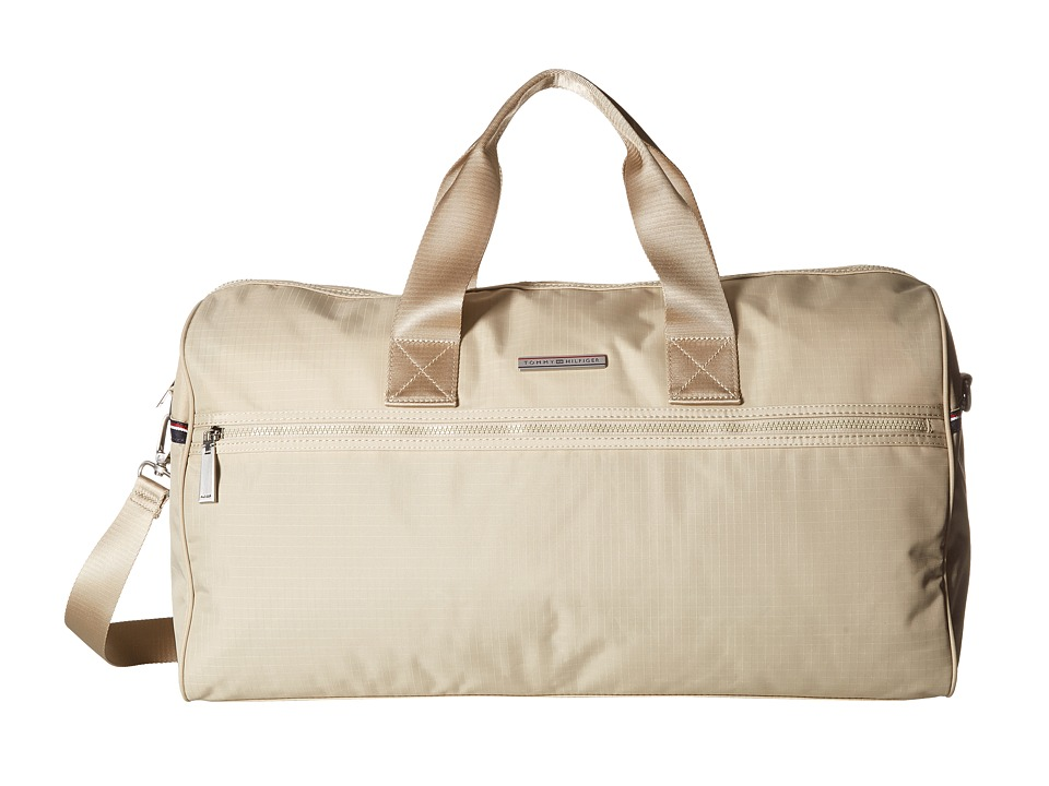 Tommy Hilfiger - Jasper - Ripstop Nylon Weekender (Khaki) Messenger Bags