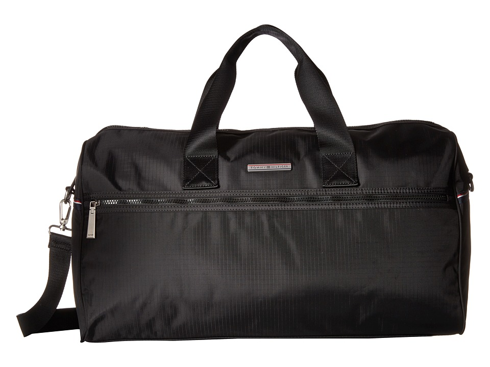 Tommy Hilfiger - Jasper - Ripstop Nylon Weekender (Black) Weekender/Overnight Luggage