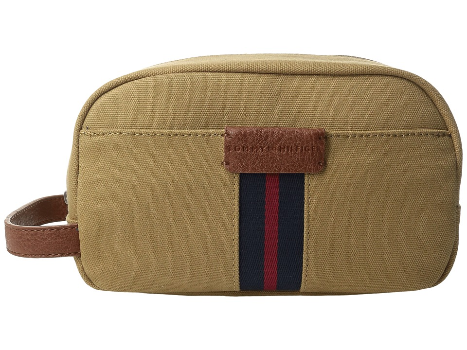 Tommy Hilfiger - Elijah - Canvas w/ PVC Trim Dopp Kit (British Tan) Bags