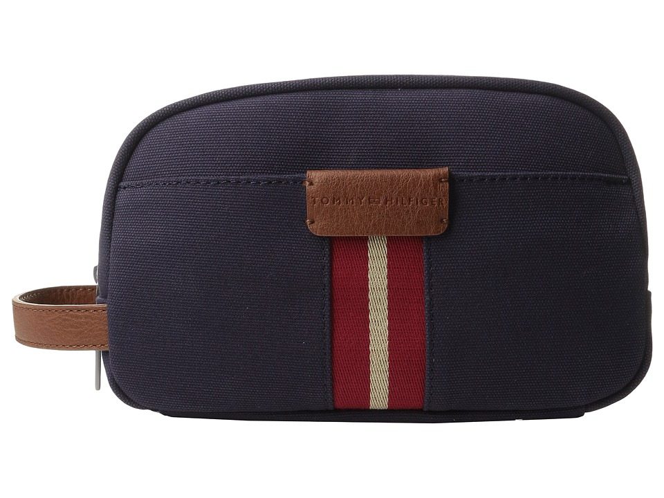 Tommy Hilfiger - Elijah - Canvas w/ PVC Trim Dopp Kit (Navy) Bags