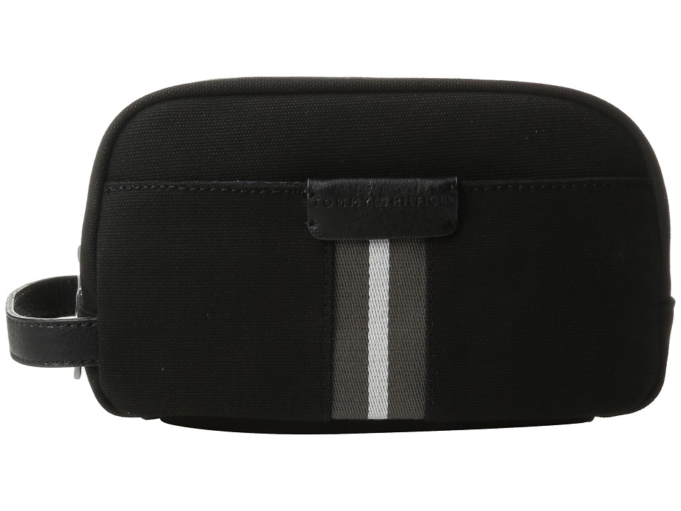 Tommy Hilfiger - Elijah - Canvas w/ PVC Trim Dopp Kit (Black) Bags