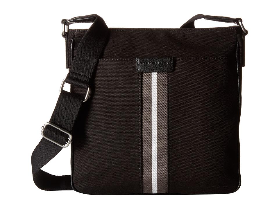 Tommy Hilfiger - Elijah - Canvas w/ PVC Trim Reporter (Black) Bags