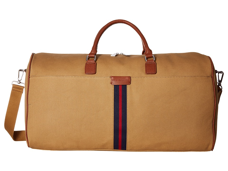 Tommy Hilfiger - Elijah - Canvas w/ PVC Trim Weekender (British Tan) Weekender/Overnight Luggage